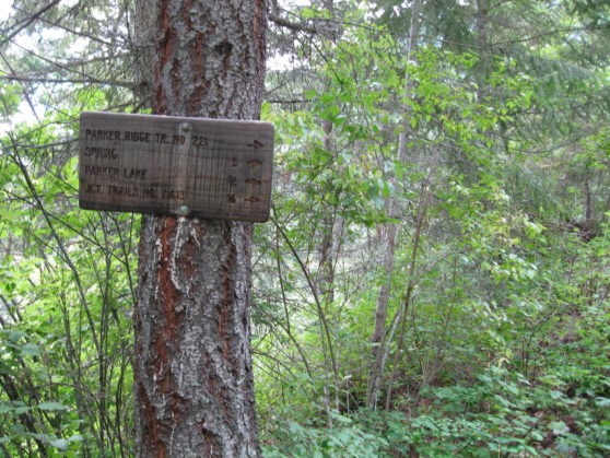 Hiking signs.