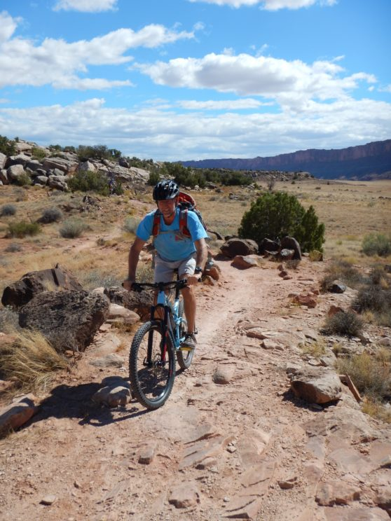 16 Mr. Arend biking in Moab