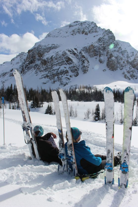 Ski trip to Assinaboine w hubby and daughter