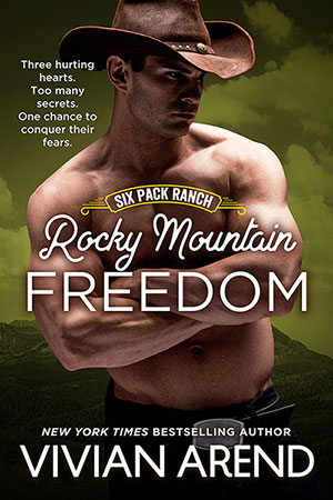 Book Cover: Rocky Mountain Freedom. Travis Coleman, Muscular brooding cowboy image