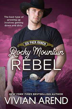 Book cover: rocky mountain Rebel. Image of Joel Coleman, young, sexy cowboy with gentle smile