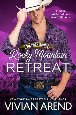 Book cover: Rocky Mountain Retreat. Lee Coleman, youthful yet sexy cowboy