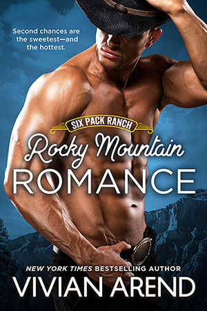 Book cover: rocky mountain romance. Steve Coleman, muscular sexy cowboy image
