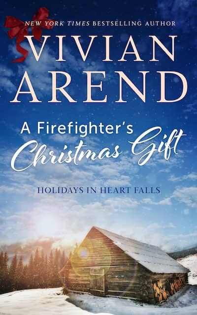 Book cover for A Firefighter's Christmas Gift by Vivian Arend