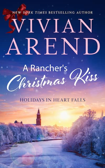 Book cover for A Rancher's Christmas Kiss by Vivian Arend