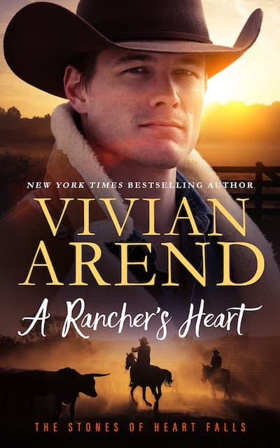 Book cover for A Rancher's Heart by Vivian Arend