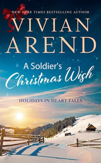 Book cover for A Soldier's Christmas Wish by Vivian Arend