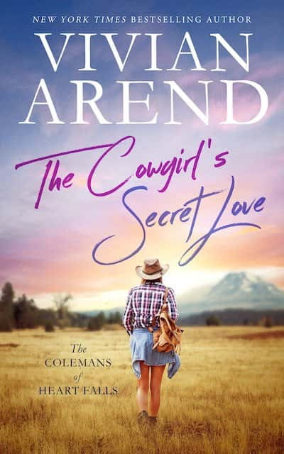 Book cover for The Cowgirl's Secret Love by Vivian Arend